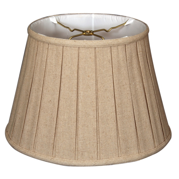 Royal Designs Empire English Pleat Basic Lamp Shade, Linen Cream, 6-way