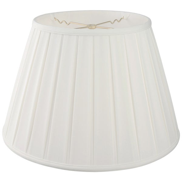 Royal Designs Empire English Pleat Basic Lamp Shade, White, 11 x 18 x 12
