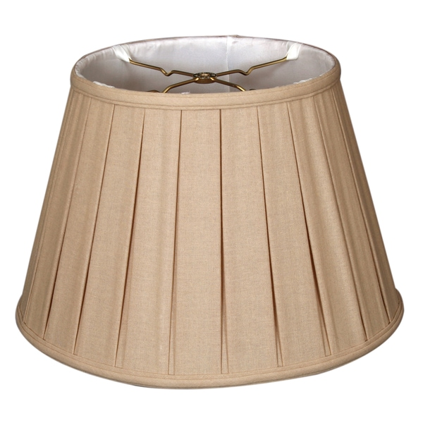 Royal Designs Empire English Pleat Basic Lamp Shade, Linen Beige, 6-way 13 x 19 x 11.25