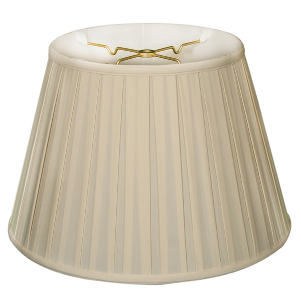 Royal Designs Empire English 6-way 13 x 19 x 12.5-inch Pleat Basic Eggshell Lamp Shade