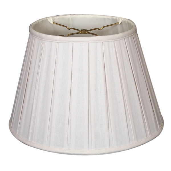 Royal Designs Empire English Pleat Basic Lamp Shade, Linen White, 11 x 18 x 12