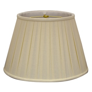 Royal Designs Empire English Pleat Basic Lamp Shade, Linen Eggshell, 11 x 18 x 12, BS-724-18LNEG