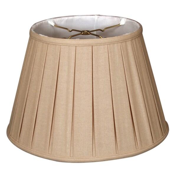 Royal Designs Empire English Pleat Basic Lamp Shade, Linen Beige, 11 x 18 x 12