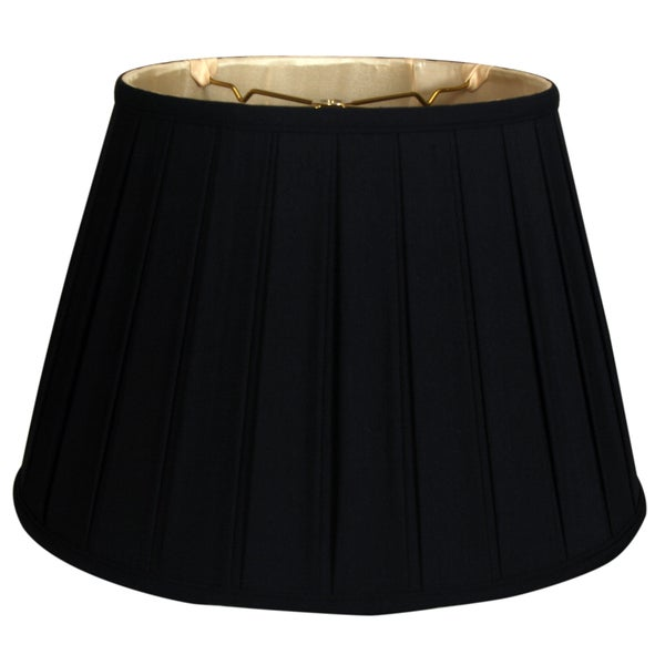 Royal Designs Empire English Pleat Basic Lamp Shade, Black/Gold 11 x 18 x 12