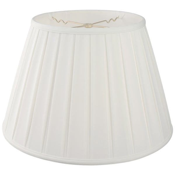 Royal Designs Empire English Pleat Basic Lamp Shade, White, 10.5 x 16 x 11