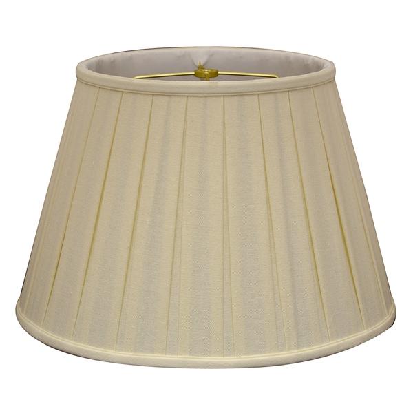 Royal Designs Empire English Pleat Basic Lamp Shade, Linen Eggshell, 10.5 x 16 x 11, BS-724-16LNEG
