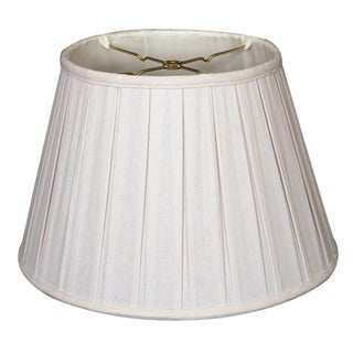 Royal Designs Empire English Pleat Basic Lamp Shade, Linen White, 10 x 14.5 x 10