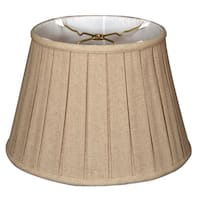 Royal Designs Empire English Pleat Basic Lamp Shade, Linen Cream, 10.5 x 16 x 11