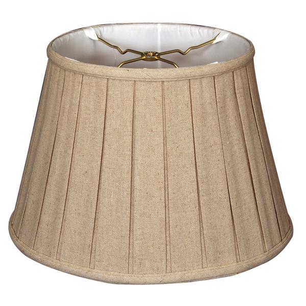 Royal Designs Empire English Pleat Basic Lamp Shade, Linen Cream, 10.5 x 16 x 11