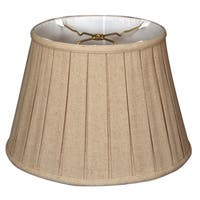 Royal Designs Empire English Pleat Basic Lamp Shade, Linen Cream, 10 x 14.5 x 10