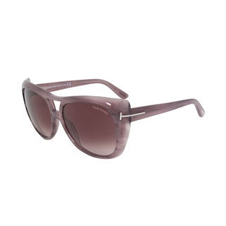 Tom Ford Claudette FT0294 Women's Lilac Havana Frame and Violet Gradient Lens Sunglasses