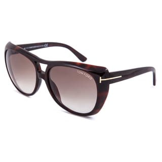 Tom Ford Claudette FT0294 Women's Dark Havana Frame with Brown Gradient Lens Sunglasses