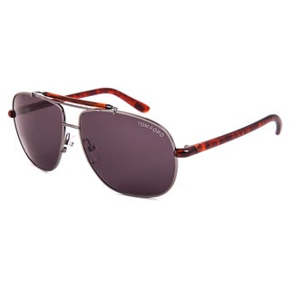Tom Ford Adrian FT0243 Men's Gunmetal and Havana Frame with Dark Grey Gradient Lens Sunglasses