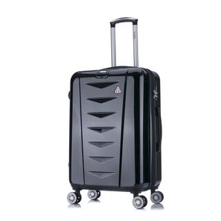 InUSA AirWorld 24-Inch Lightweight Hardside Spinner Upright Suitcase