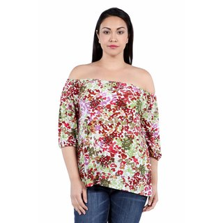 24/7 Comfort Apparel Country Gorgeous Off Shoulder Plus Size Top