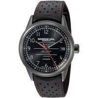 9515634bcf1 Raymond Weil Men s 2754-BKR-05200  Freelancer  Automatic Black Rubber Watch
