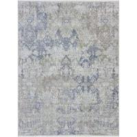 Hand-knotted Abram Mushroom Wool and Silk Area Rug - 10' x 14'