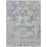 Hand-knotted Abram Mushroom Wool and Silk Area Rug - 9' x 12'
