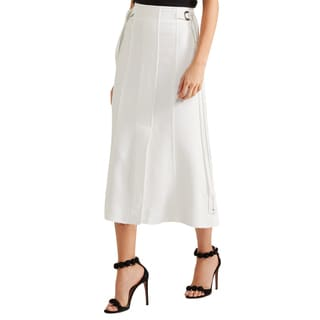 Proenza Schouler White Crepe Skirt