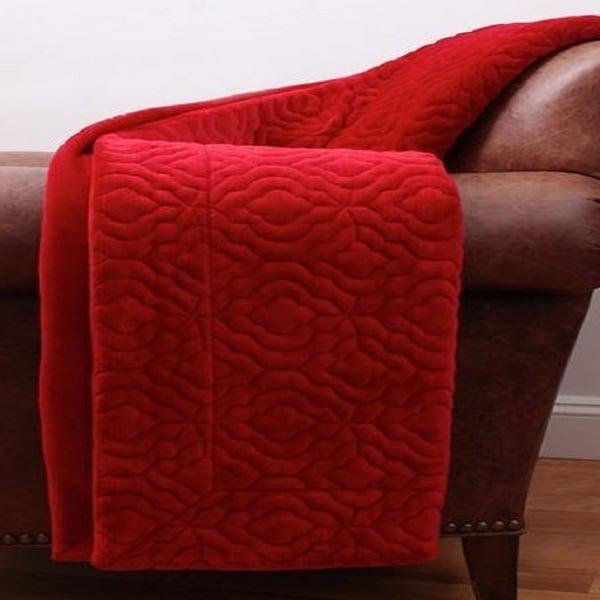 Thro by Marlo KEIRAN Geo Embroidered Fleece Decorative Throw