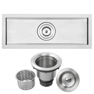 """22"""" Ticor TR-3000 Stainless Steel 16-gauge Undermount Trough Kitchen Bar Sink"""