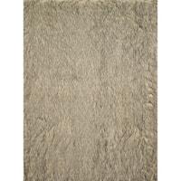 Faux Fur Beige/ Black Shag Rug (3'0 x 5'0)