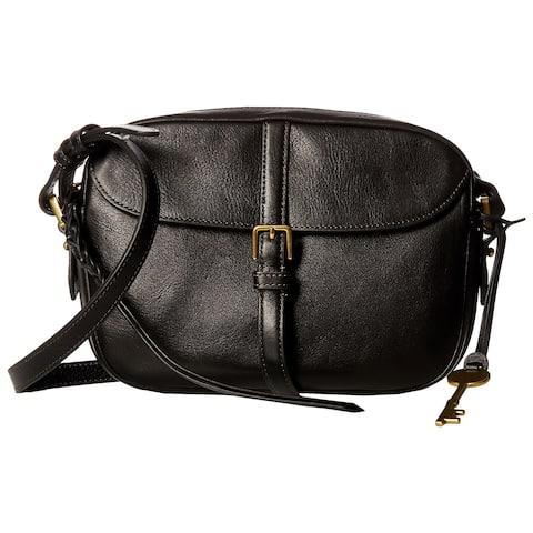 Fossil Kendal Black Leather Crossbody Handbag
