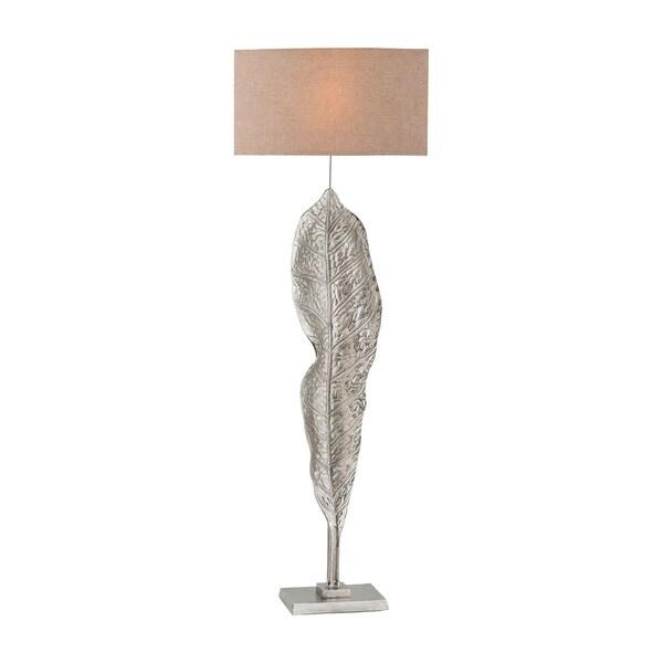 Dimond Lighting Katerini Beige Linen Shade and Nickel-finish Aluminum Base Floor Lamp