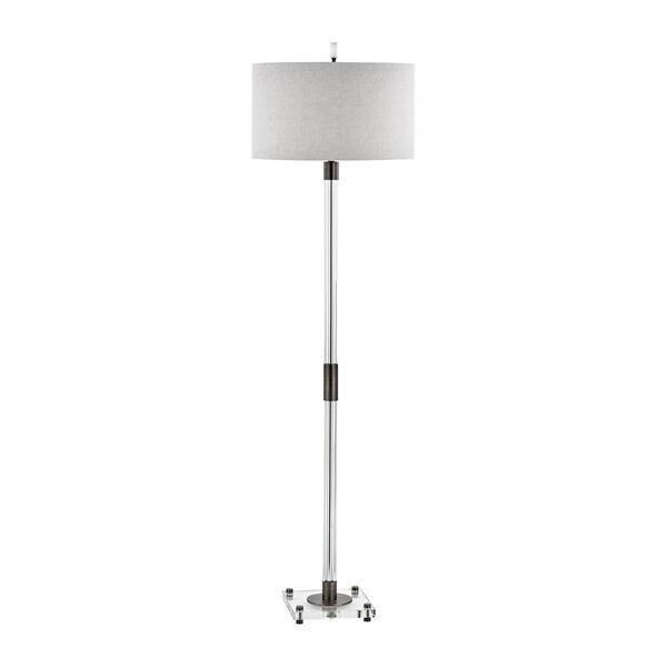 Dimond Lighting Throughline Floor Lamp with Cream Linen Shade