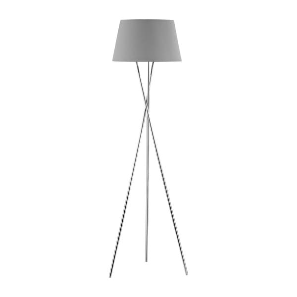 Dimond Lighting Excelsius Grey Faux Silk Shade and Metal Floor Lamp