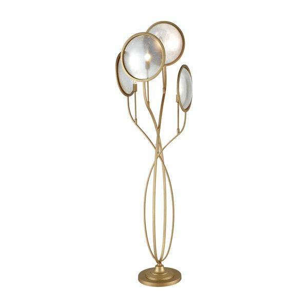 Diamond Le Style Metro Goldtone Metal/Glass Floor Lamp