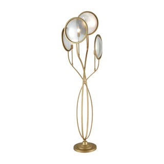 Diamond Le Style Metro Goldtone Metal/Glass Floor Lamp