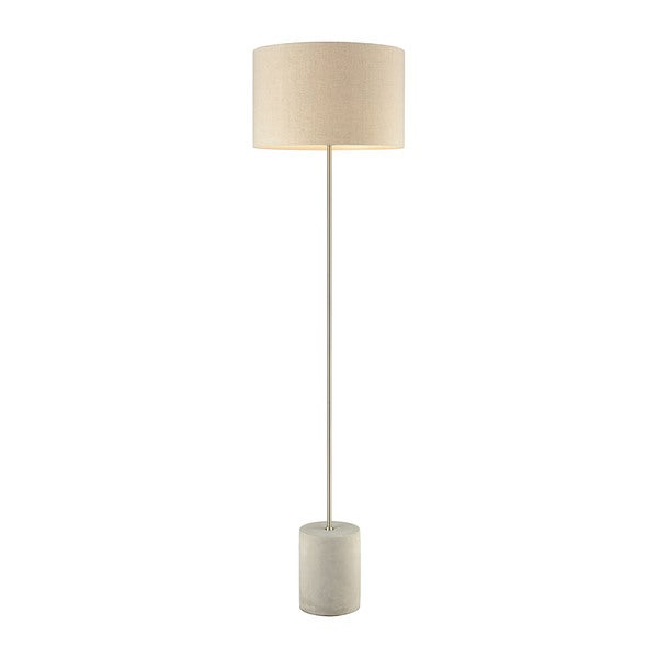 Dimond Lighting Katwijk Ivory Linen Shade and Concrete Base Floor Lamp