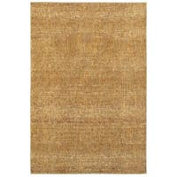 Carson Carrington Rauma Tonal Textures Gold/Yellow Area Rug - 6'7 x 9'6