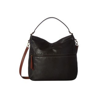 Fossil Corey Black Leather Hobo Handbag