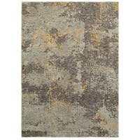 """Style Haven Marbled Stone Grey/Gold Area Rug (5'3 x 7'3) - 5'3"""" x 7'3"""""""