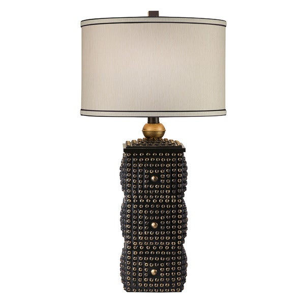 Catalina Abel Golden Black Textured Table Lamp