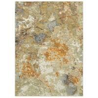 Carson Carrington Imatra Marble Gold/Beige Area Rug - 5'3 x 7'3