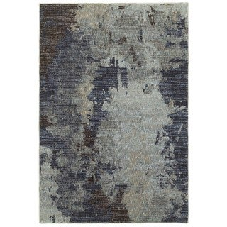 "Grey Skies Navy/Blue Area Rug (6'7 x 9'6) - 6'7"" x 9'6"""