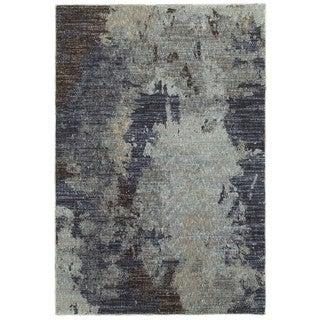 Grey Skies Navy/Blue Area Rug (6'7 x 9'6)
