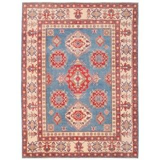 Herat Oriental Afghan Hand-knotted Vegetable Dye Kazak Wool Rug (9' x 12')