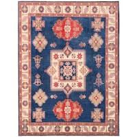 Herat Oriental Afghan Hand-knotted Vegetable Dye Kazak Wool Rug (9'2 x 12'2)