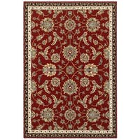 "Laurel Creek Emil Floral Red/Multi Area Rug - 5'3"" x 7'6"""
