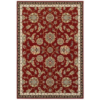 "Gracewood Hollow Claude Floral Red/Multi Area Rug - 5'3"" x 7'6"""