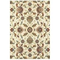"""Copper Grove Rossore Oriental Ivory/Multicolor Area Rug - 6'7"""" x 9'6"""""""