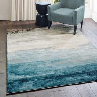 """Carson Carrington Kerava Abstract Blue/Beige Area Rug - 5'3"""" x 7'6"""""""