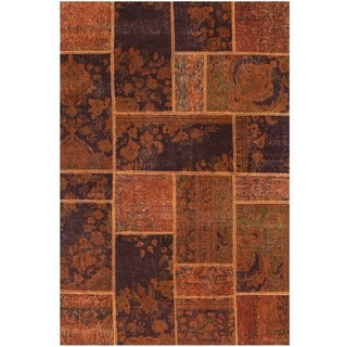 Herat Oriental Pak Persian Hand-knotted Patchwork Wool Rug (3'10 x 5'10)