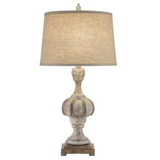 Catalina Raven Weathered Wood-inspired Table Lamp