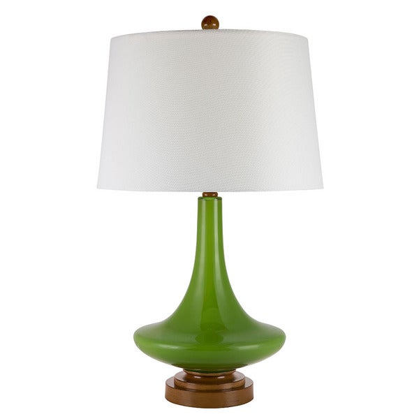 Catalina Mindy White And Green Glass Genie Table Lamp