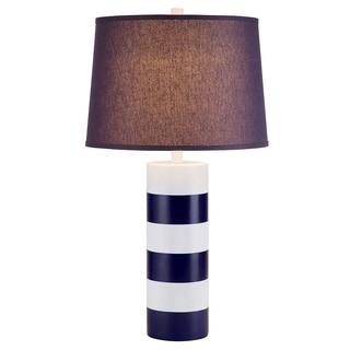 Catalina Newport Navy Striped Nautical Table Lamp
